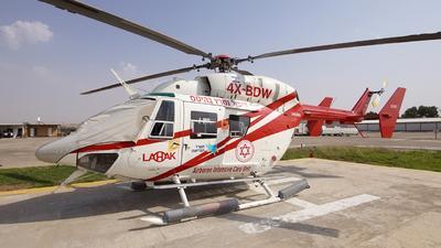 4X-BDW - MBB-Kawasaki BK117A-4 - Lahak Aviation