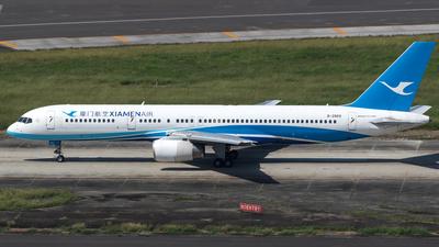 A picture of B2869 - Boeing 75725C - Xiamen Air - © 黄花菜烧香港鸡