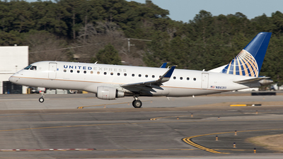 A picture of N86311 - Embraer E175LR - United Airlines - © Yixin Chen