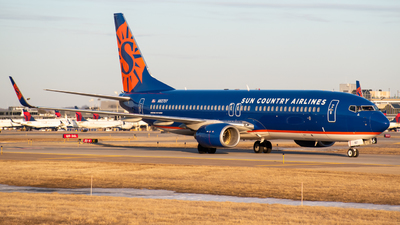 A picture of N827SY - Boeing 7378F2 - Sun Country Airlines - © MSPlane Spotter