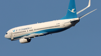 A picture of B1708 - Boeing 73785C - Xiamen Air - © Michael Tang