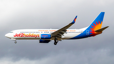 A picture of GJZBD - Boeing 7378MG - Jet2 - © Brandon Hill