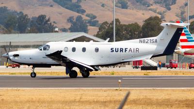 A picture of N821SA - Pilatus PC12/47E - Surf Air - © Conner Rocha