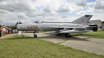 4408 - Mikoyan-Gurevich MiG-21MF Fishbed J - Hungary - Air Force