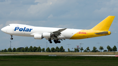 A picture of N851GT - Boeing 74787U(F) - DHL - © Martin Grotter