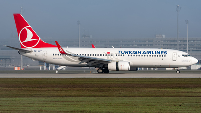 A picture of TCJVY - Boeing 7378F2 - Turkish Airlines - © Timo Frisch