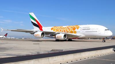 A picture of A6EOU - Airbus A380861 - Emirates - © Óscar López Herrero