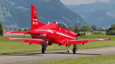 A picture of HBHZD - Pilatus PC21 Prototype - Pilatus Flugzeugwerke - © Tomasz Chrul