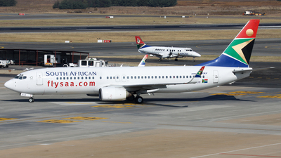 ZS-SJE - Boeing 737-85F - South African Airways