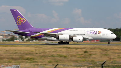 A picture of HSTUE - Airbus A380841 - Thai Airways - © Fakocka