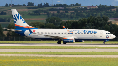 A picture of TCSOD - Boeing 7378HC - SunExpress - © Justin Stöckel