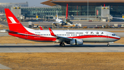 A picture of B5722 - Boeing 73789P - Shanghai Airlines - © yiran