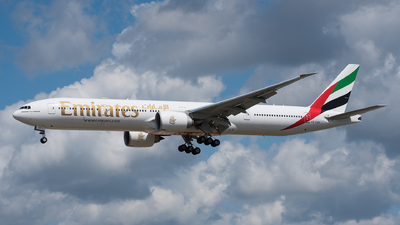 A picture of A6EQP - Boeing 777300(ER) - Emirates - © Tim Kaempfer