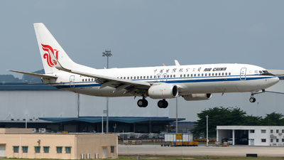 A picture of B1527 - Boeing 73789L - Air China - © ZGGG RWY01