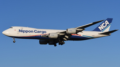 A picture of JA16KZ - Boeing 7478KZ(F) - Nippon Cargo Airlines - © HIroki Manabe