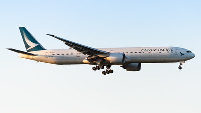A picture of BKPQ - Boeing 777367(ER) - Cathay Pacific - © Markus Schwab