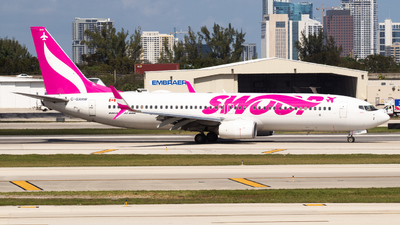 A picture of CGXRW - Boeing 7378CT - Swoop - © Planes4you