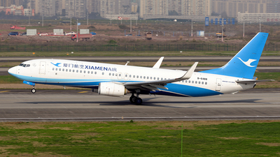 A picture of B6488 - Boeing 73785C - Xiamen Air - © BCG554