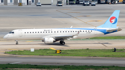 A picture of B3187 - Embraer E190LR - Hebei Airlines - © Wanping Chen