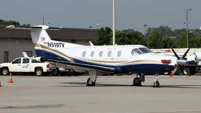 A picture of N519TV - Pilatus PC12/45 - [549] - © Carlos Barcelo
