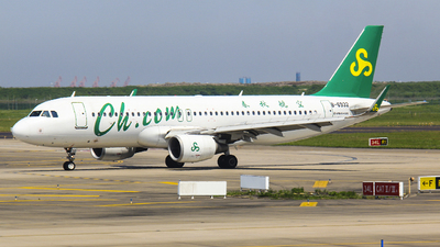A picture of B6932 - Airbus A320214 - Spring Airlines - © Ethan  CHEN