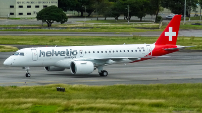 A picture of HBAZD - Embraer E190E2 - Helvetic Airways - © Emerson Farias / @evf.spotter