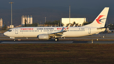 A picture of B7600 - Boeing 73789P - China Eastern Airlines - © Wangxinghu