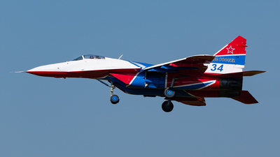 34 - Mikoyan-Gurevich MiG-29UB Fulcrum - Russia - Air Force