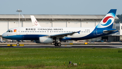 A picture of B9976 - Airbus A320232 - Chongqing Airlines - © Calvin Chu