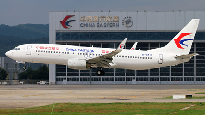 A picture of B5515 - Boeing 73789P - China Eastern Airlines - © cmqmc