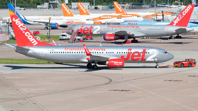 A picture of GJZHY - Boeing 7378MG - Jet2 - © Jack Parker man aviator