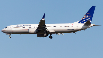 A picture of HP9902CMP - Boeing 737 MAX 9 - Copa Airlines - © Jussef_04