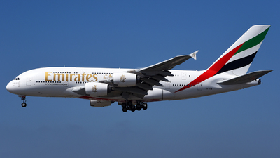 A picture of A6EOM - Airbus A380861 - Emirates - © Rocky Wang