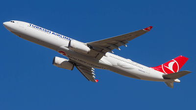 A picture of TCLOK - Airbus A330343 - Turkish Airlines - © ADBSPOTTER