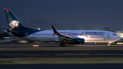 A picture of N825AM - Boeing 737852 - Aeromexico - © Iván Cabrero