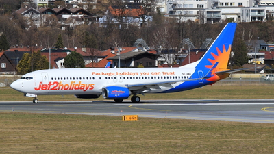 A picture of GJZBR - Boeing 7378MG - Jet2 - © Christoph Plank