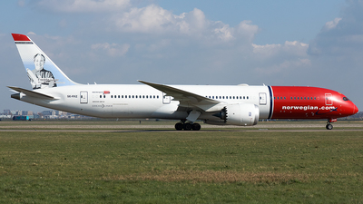 A picture of SERXZ - Boeing 7879 Dreamliner - Norwegian - © Douwe C. van der Zee