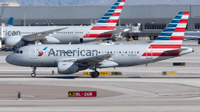 A picture of N755US - Airbus A319112 - American Airlines - © Yixin Chen