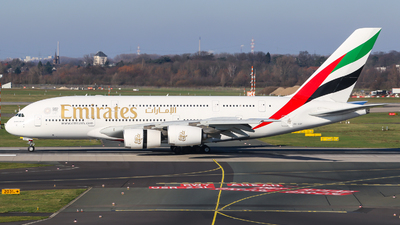 A picture of A6EDF - Airbus A380861 - Emirates - © Johannes Wirl