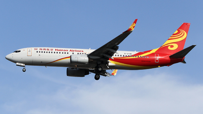 A picture of B5735 - Boeing 73784P - Hainan Airlines - © ceci wong