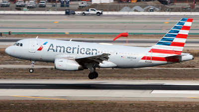 A picture of N805AW - Airbus A319132 - American Airlines - © Diego Mancilla.