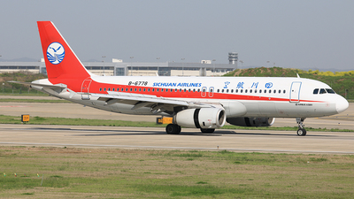 A picture of B6778 - Airbus A320232 - Sichuan Airlines - © Qiao Zheng
