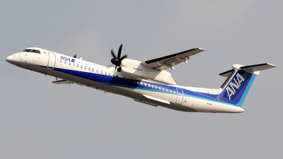 A picture of JA842A - De Havilland Canada Dash 8400 - All Nippon Airways - © Kinmei