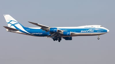 A picture of VPBBP - Boeing 7478HV(F) - AirBridgeCargo Airlines - © Xuanting Wang