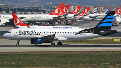 5A-ONJ - Airbus A320-214 - Afriqiyah Airways