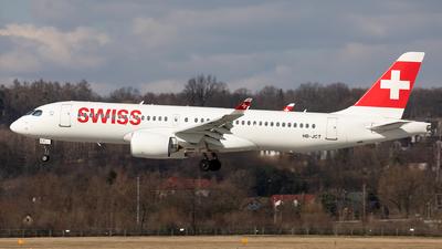 A picture of HBJCT - Airbus A220300 - Swiss - © Łukasz Stawiarz