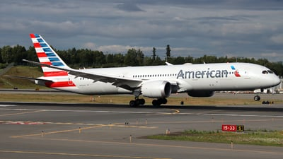 A picture of N833AA - Boeing 7879 Dreamliner - American Airlines - © Xiamen Air 849 Heavy