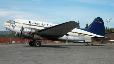 N7848B - Curtiss C-46R Commando - Everts Air Cargo