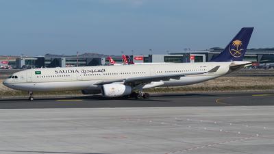 A picture of HZAQ16 - Airbus A330343 - Saudia - © Furkan Borakazi