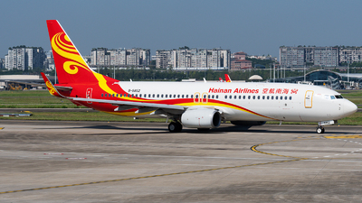 A picture of B5852 - Boeing 73784P - Hainan Airlines - © Mr.Huang